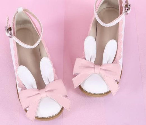 EU 32-44 Lolita Cutie Bunny Bowknot Princess Shoes SP153064 - SpreePicky  - 4