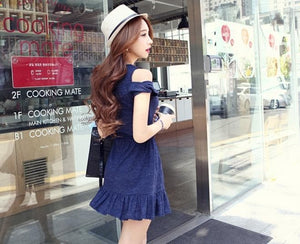 S/M/L Elegant Royal Blue Summer Dress SP152448 - SpreePicky  - 4