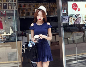 S/M/L Elegant Royal Blue Summer Dress SP152448 - SpreePicky  - 3