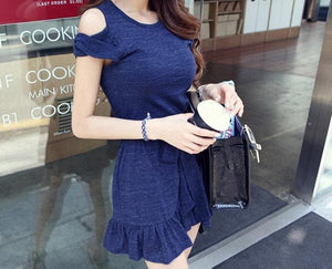 S/M/L Elegant Royal Blue Summer Dress SP152448 - SpreePicky  - 2