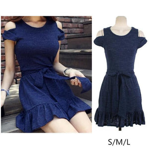 S/M/L Elegant Royal Blue Summer Dress SP152448 - SpreePicky  - 1