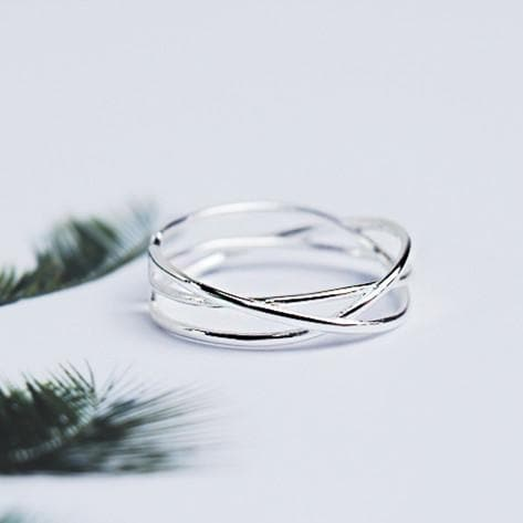 Elegant Simple Silver Ring SP179067