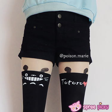 Totoro Fake Over Knee Thigh High Tights SP130042 - SpreePicky  - 3