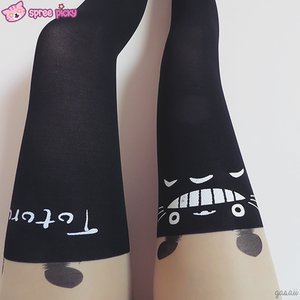 Totoro Fake Over Knee Thigh High Tights SP130042 - SpreePicky  - 4