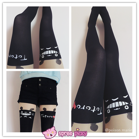 Totoro Fake Over Knee Thigh High Tights SP130042