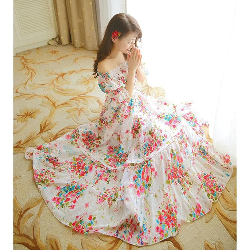 S/M/L Flower Fairy Long Gown Dress SP152020 - SpreePicky  - 1