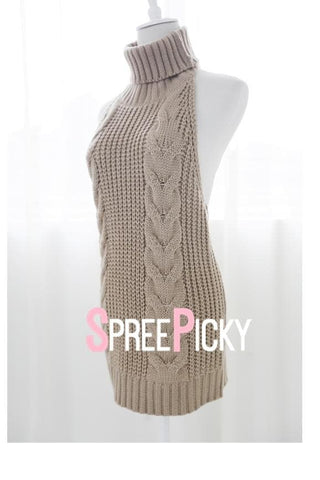 [FreeShipping] Virgin Killer Sweater Dress SP178781