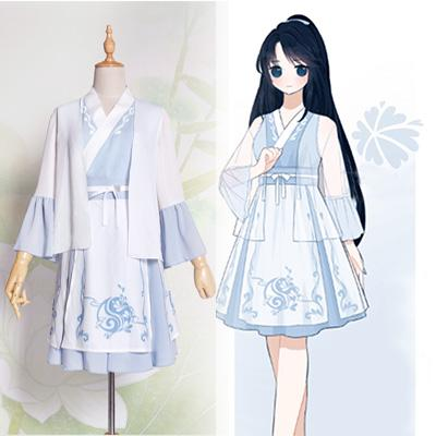 Pastel Blue Chinese Hanfu Dress SP1710485
