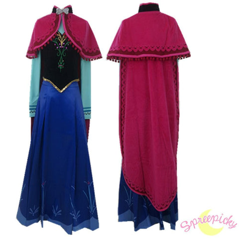 Winter Version [Frozen]Princess Anna Fabulous Gown Cosplay Costume SP140778 - SpreePicky  - 3