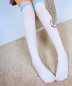 [GINTAMA] White/Black Sakata Gintoki Printing High Tights SP164983 - SpreePicky  - 2