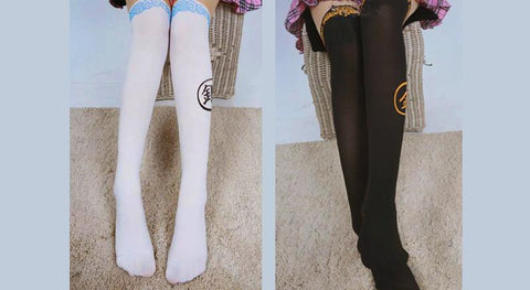 [GINTAMA] White/Black Sakata Gintoki Printing High Tights SP164983 - SpreePicky  - 6