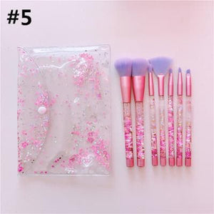 {Reservation}Galaxy Pink Unicorn Mermaid Paillette Makeup Brush SP1812556