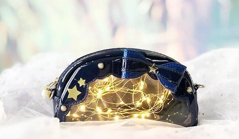 Galaxy Star Bow Cosmetic Bag/Cross Body Bag SP1812063