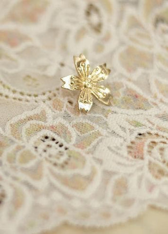 Gold/Bronze Japanese Sakura Badge Sakura Brooch SP153290 - SpreePicky  - 5