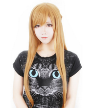 Load image into Gallery viewer, Gold Brown/Blue Cosplay Sword Art Online Asuna SAO Wig 80cm SP152575 Kawaii Aesthetic Fashion - SpreePicky