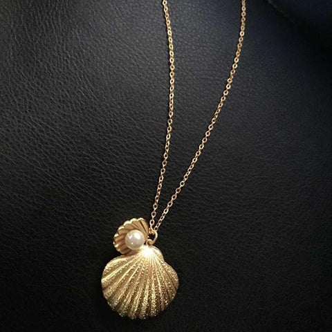Gold Pearl Shell Fashion Necklace SP167371