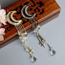 Load image into Gallery viewer, Golden/Bronze/Silver Retro Moon Tassels Hair Clip SP168535