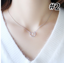 Load image into Gallery viewer, Golden/Silver Kawaii Star Moon Necklace SP178629