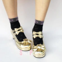 Load image into Gallery viewer, Golden Dazzling Glitter Heels SP179631