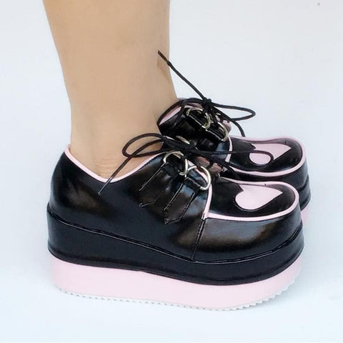 Good Quality My Pink Heart Platform Shoes SP168287