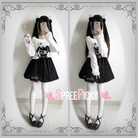 Goth Lolita Kuro-Bunny Long Sleeve Set SP179076
