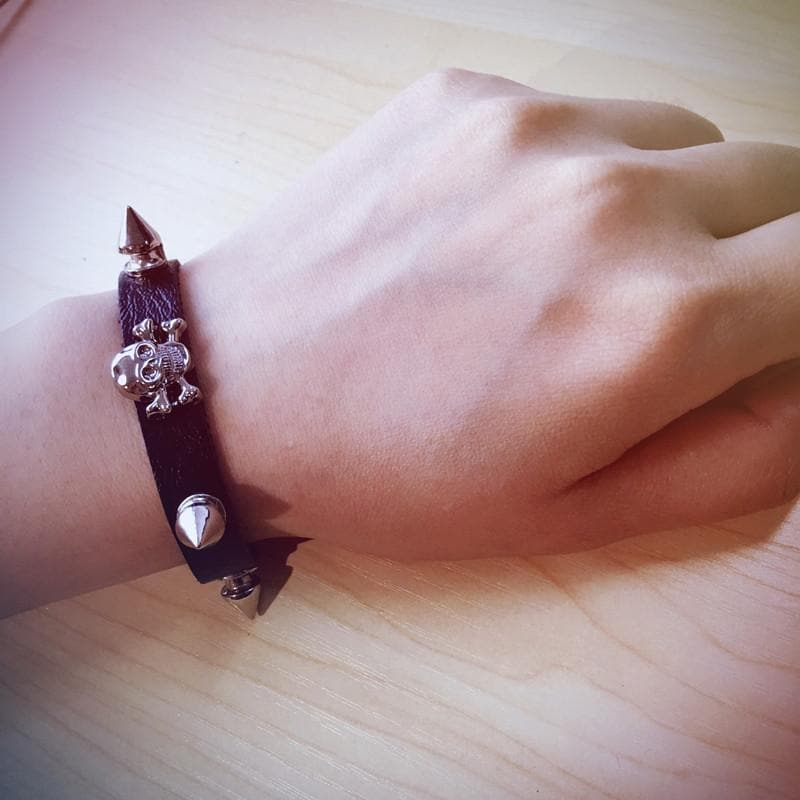 Skull Leather Bracelet SP167776