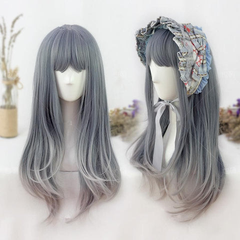 Gradient Color Lolita Long Curly Wig SP178704