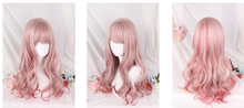 Load image into Gallery viewer, Gradual Change Pink Lolita Long Curly Wig SP178696
