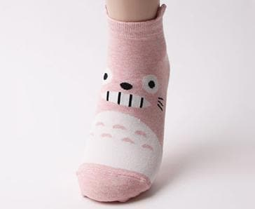 Gray/Pink/Blue Kawaii Totoro Cotton Socks SP167581