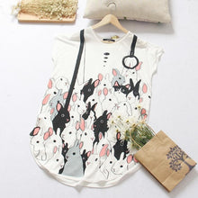 Load image into Gallery viewer, Gray/White Adorable Bunny Short Sleeve Dress SP167219 - SpreePicky