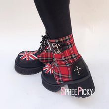 Load image into Gallery viewer, Great Britain Checkered Boots SP179646