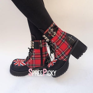 Great Britain Checkered Boots SP179646
