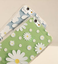 Load image into Gallery viewer, Green/Blue Floral Pattern Silica Gel Phone Case SP166293