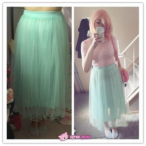 5 colors Grenadine High-Waited Long TUTU Skirt  SP140518 - SpreePicky  - 2