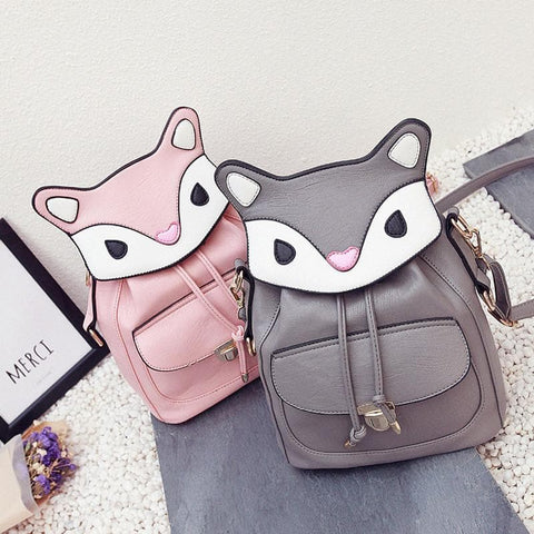 Grey/Black/Pink Kawaii Cartoon Backpack Shoulder Bag SP168434