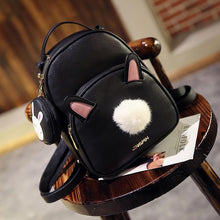 Load image into Gallery viewer, Grey/Black Fluffy Bunny Backpack SP1710032