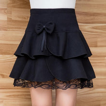 Load image into Gallery viewer, Grey/Black High Waist Lace Skirt SP178665