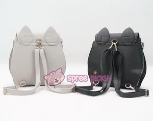 Grey/Black Sailor Moon Luna Mini 3 ways Backpack Bag SP152999 - SpreePicky  - 5