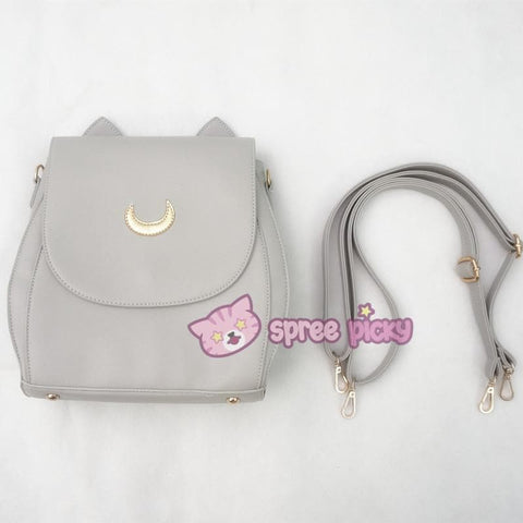 Grey/Black Sailor Moon Luna Mini 3 ways Backpack Bag SP152999 - SpreePicky  - 13