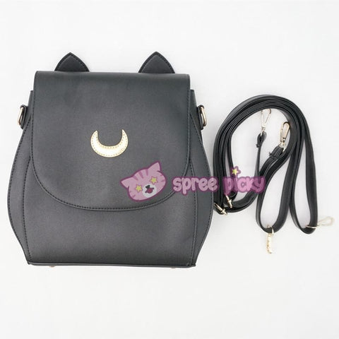 Grey/Black Sailor Moon Luna Mini 3 ways Backpack Bag SP152999 - SpreePicky  - 14