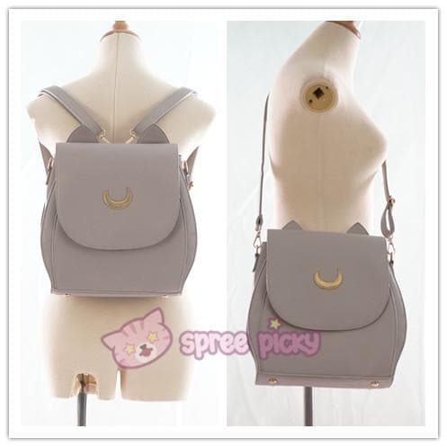 Grey/Black Sailor Moon Luna Mini 3 ways Backpack Bag SP152999 - SpreePicky  - 8