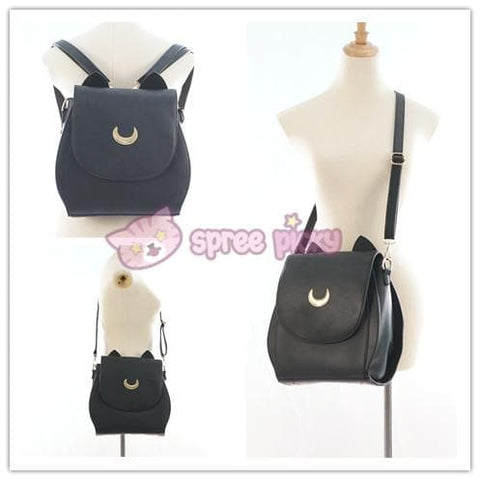 Grey/Black Sailor Moon Luna Mini 3 ways Backpack Bag SP152999 - SpreePicky  - 7
