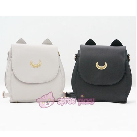 Grey/Black Sailor Moon Luna Mini 3 ways Backpack Bag SP152999 - SpreePicky  - 2