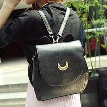 Load image into Gallery viewer, Grey/Black Sailor Moon Luna Mini 3 ways Backpack Bag SP152999 - SpreePicky  - 9
