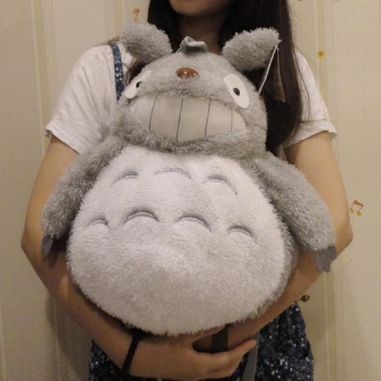 Grey/Dark Grey Totoro Plush Backpack/Handbag SP165343