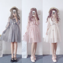 Load image into Gallery viewer, Grey/Pink/Beige Fairy Flower Tulle Dress SP1812385