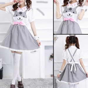 Grey/Yellow/Black Cutie Kitty Dress SP154458 - SpreePicky  - 4
