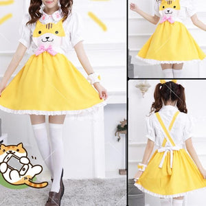 Grey/Yellow/Black Cutie Kitty Dress SP154458 - SpreePicky  - 5