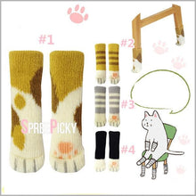 Load image into Gallery viewer, Grey/Yellow/Black Kawaii Cat Paw Table/Chairs Legs Sleeve Gasket SP1710416