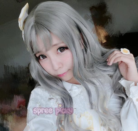 Grey Harajuku Lolita Long Wig SP166219